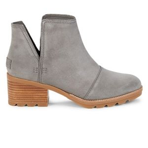 ‼️NWT SOREL Women's Grey Cate Suede Ankle Booties